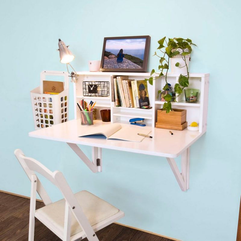 Bàn học treo tường, chiếc bàn học đẹp đáng mua nhất, một trong những vật dụng đẹp, tiện nghi và sang trọng.