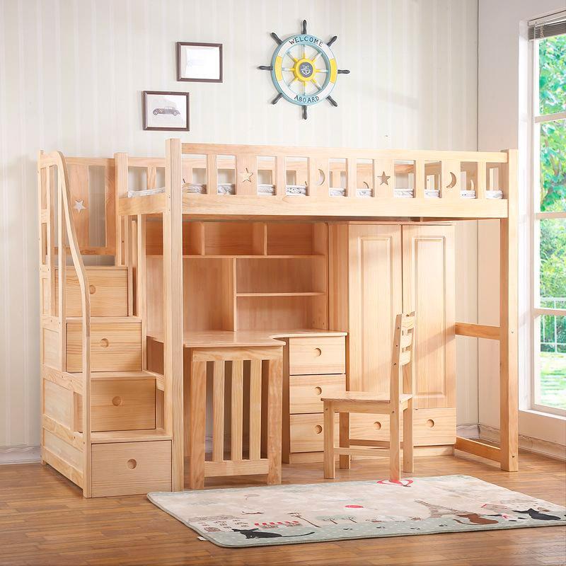 Bàn học kết hợp giường tầng giúp trẻ học tập và nghỉ ngơi hợp lý