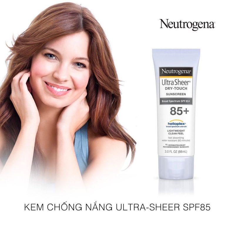 Kem chống nắng Neutrogena Ultra Sheer, kem chống nắng đáng mua nhất 2019.