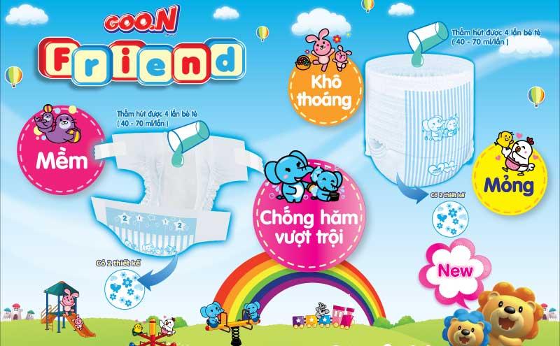 Bỉm Goo.N Friend: bỉm được sản xuất dành cho thị trường Việt Nam