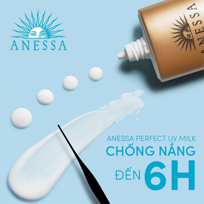 Kem chống nắng chống nước Anessa, bảo vệ da tối ưu.