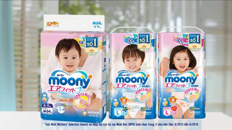 Tã Bỉm Moony của Nhật