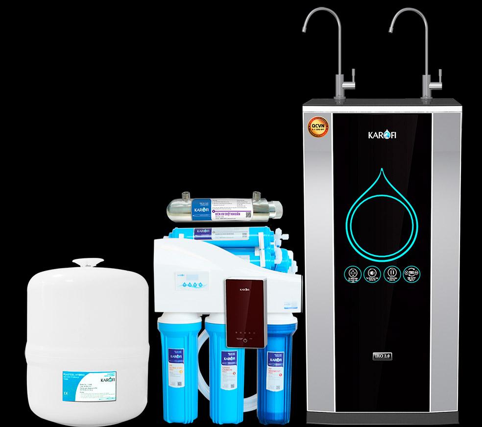 Máy lọc nước Karofi, tiêu diệt lên đến 99,9% vi khuẩn, bụi bẩn có trong nước.