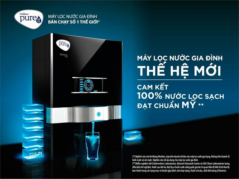 Máy Lọc Nước Unilever PUREIT Mineral RO + UV, máy lọc nước bán chạy số 1 thế giới.
