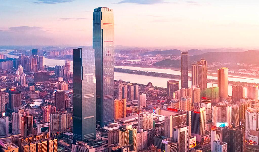 Changsha IFS Tower T1, tòa tháp đẹp, sang trọng, hiện đại