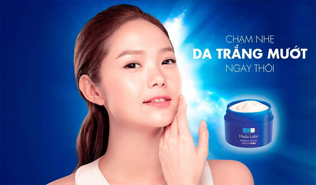 Chăm sóc da mặt mỗi ngày với kem dưỡng da Hada Labo.