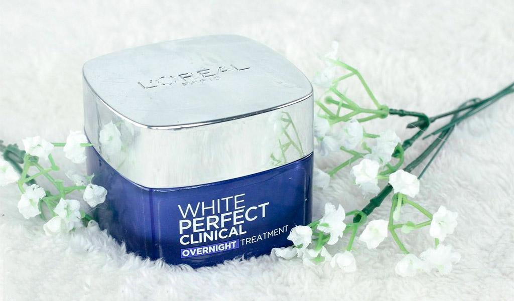 Kem dưỡng da mặt tốt nhất L'oreal White Perfect Night Cream mang đến làn da trắng sáng rạng ngời.