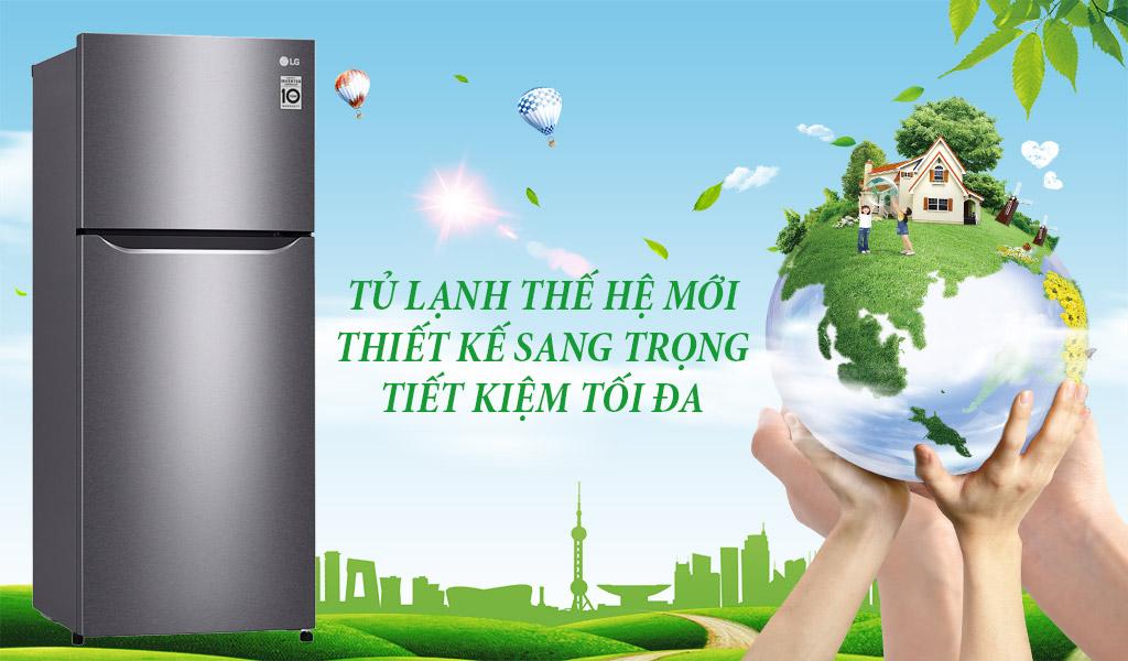 LG Inverter, tủ lạnh hiện đại, độ bền cao.