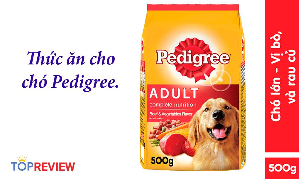 Thức ăn cho chó Pedigree, giúp cún ăn ngon mỗi ngày.