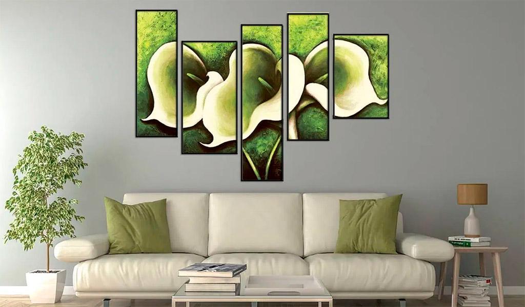 Hoa loa kèn là một trong những bức tranh sơn dầu đầy ấn tượng ở Việt Nam.