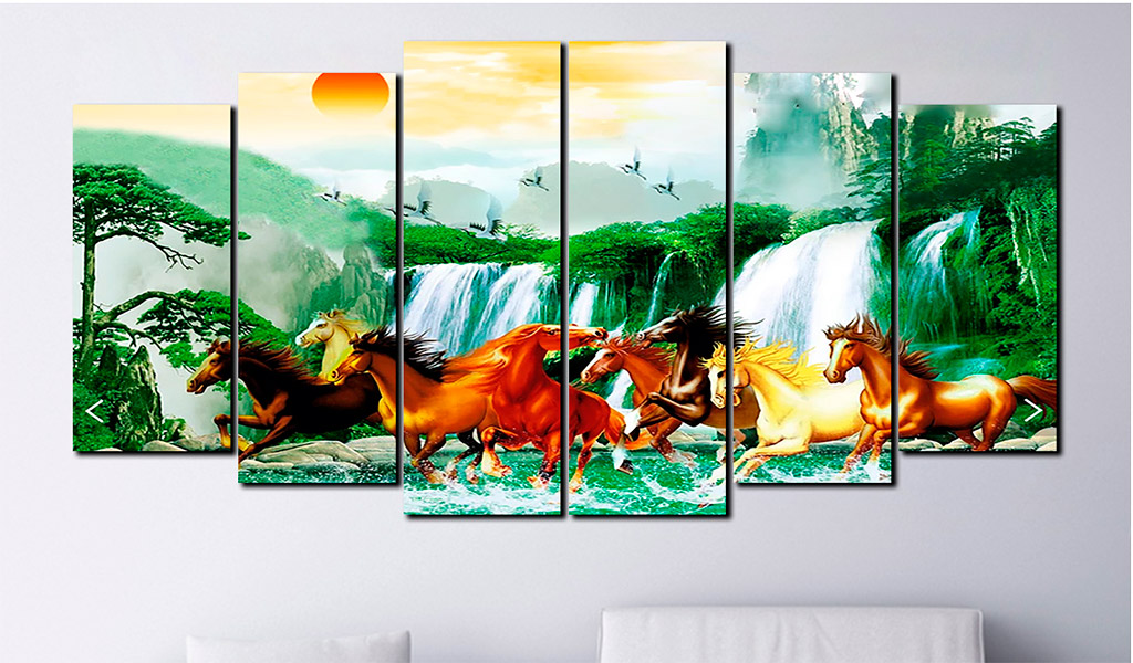 Tranh sơn dầu hiện đại Mã đáo thành công là loại tranh phong thủy.