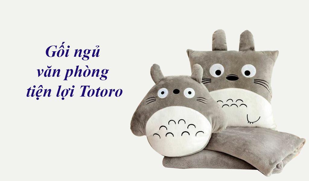 Gối ngủ tiện lợi Totoro, gối ngủ dễ thương, đáng yêu cho dân văn phòng.