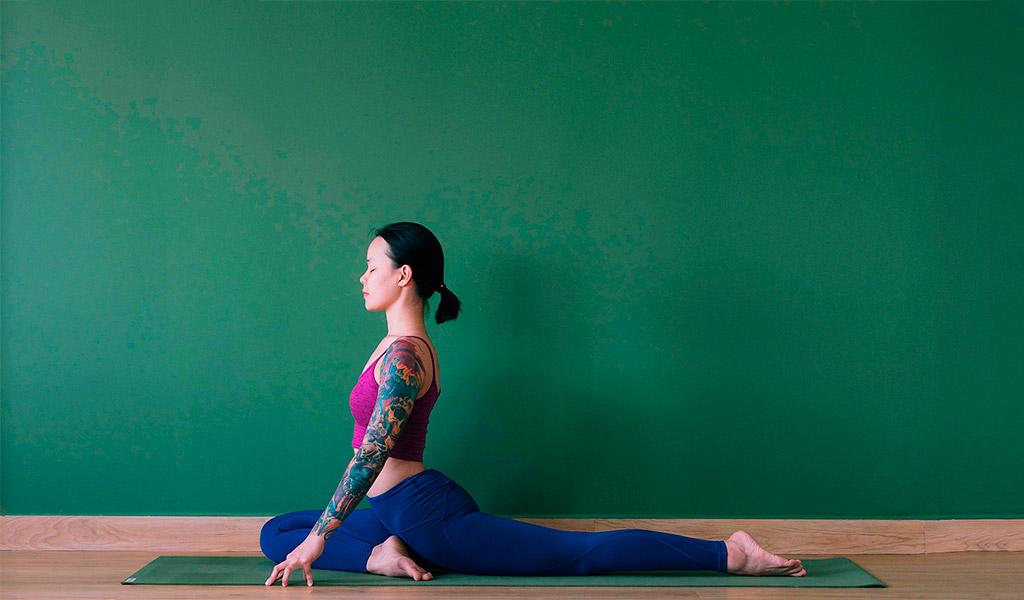 Tập Yoga cùng với tư thế chim bồ câu