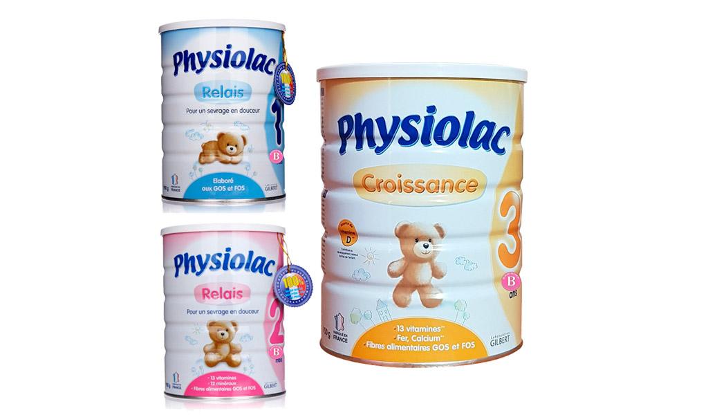 Sữa bột Physiolac là sản phẩm cao cấp từ Pháp