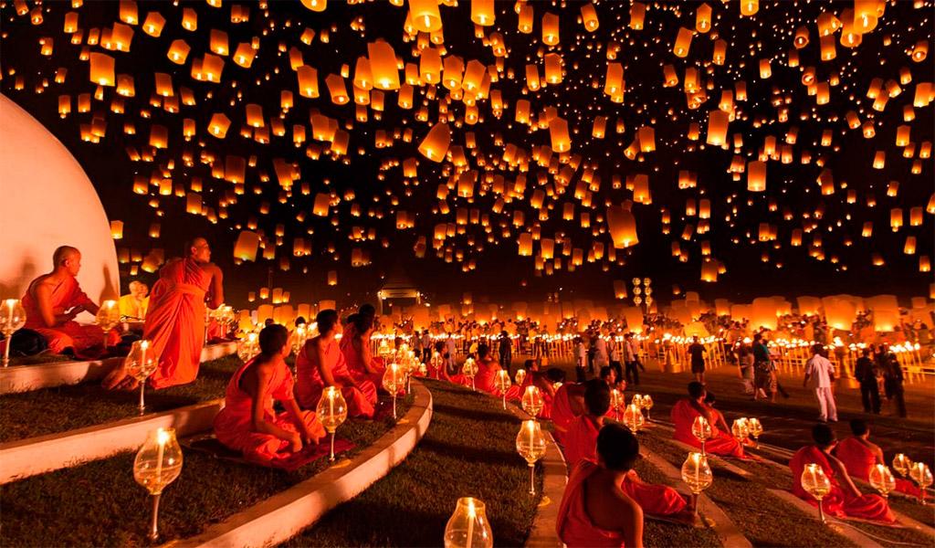 Lễ hội văn hóa thả đèn trời Yi Peng, vô cùng thú vị, bắt mắt