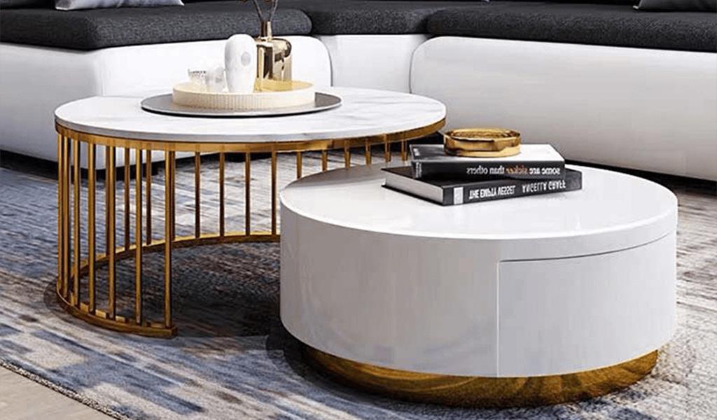 Bàn sofa Mặt đá tự nhiên mang phong cách Châu Âu nhẵn bóng
