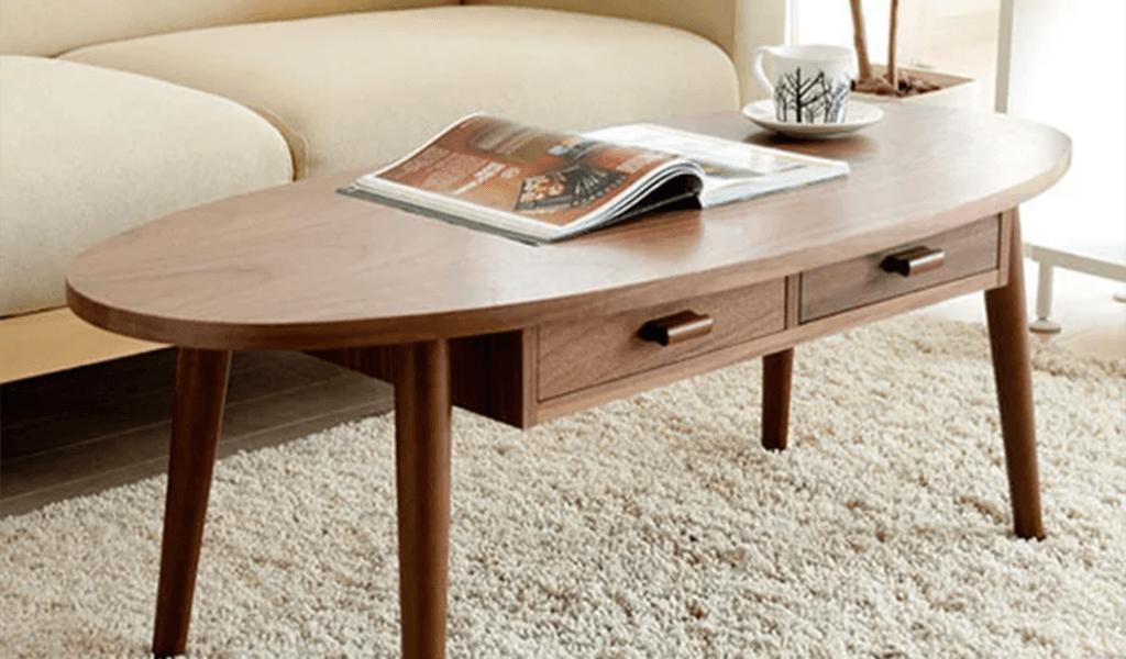 Bàn sofa gỗ phong cách cổ điển của Nhật
