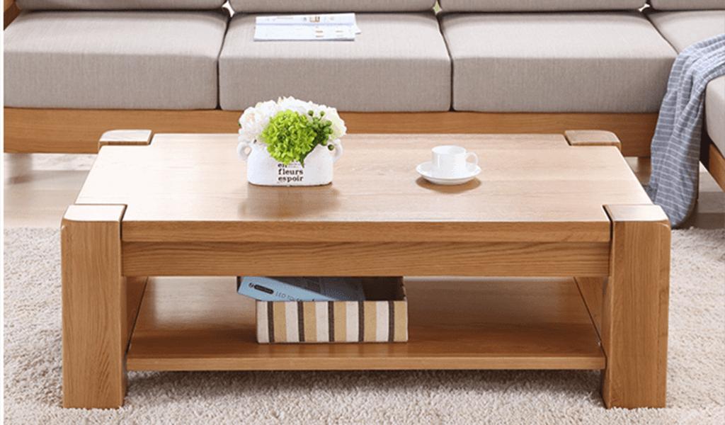 Mầu Bàn sofa gỗ khối vuông chắc chắn kiểu Châu Âu