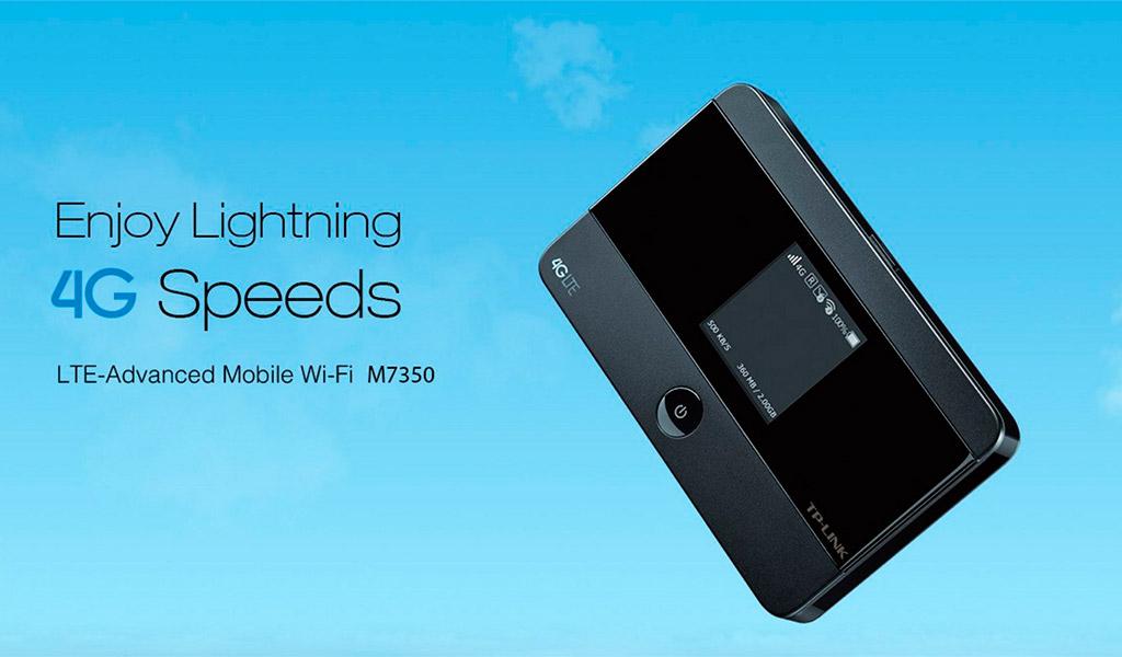 wifiBộ phát wifi di động Lte TP-Link M7350, tốc độ tối ưu