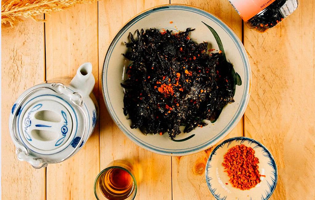 cách làm rong biển cháy tỏi ớt thơm ngon