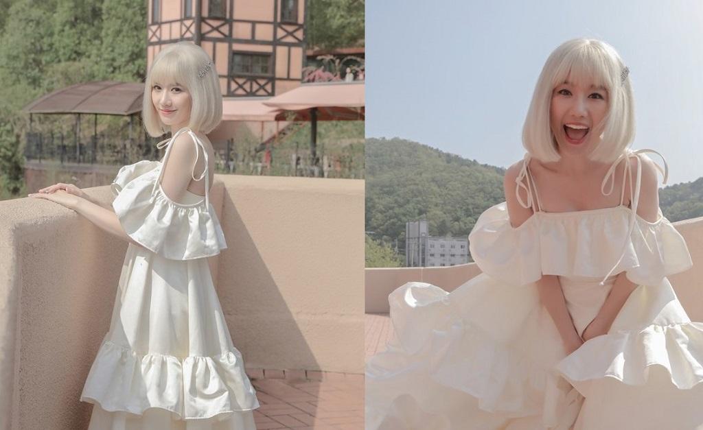 Hariwon với tóc Bạch Kim trông rất đáng yêu, và màu tóc này cũng được nhiều giới trẻ hiện nay lựa chọn.