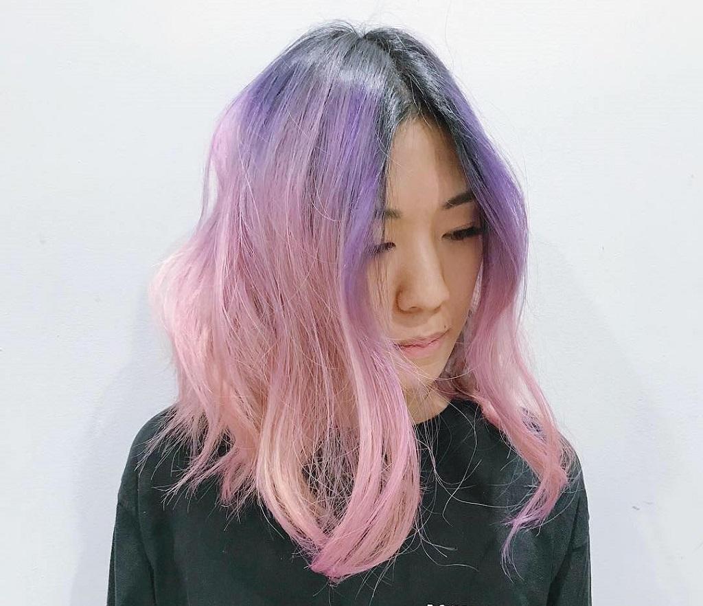 Tóc màu Tím Pastel là màu đặc trưng của hoa Lavender