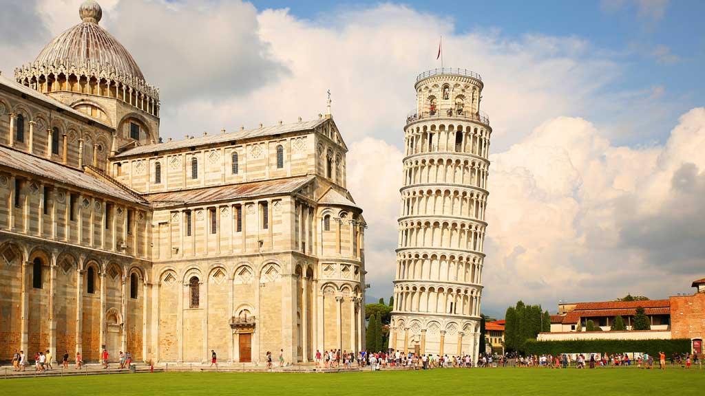 Kiến trúc kì lạ của thế giới -  tháp nghiêng Pisa