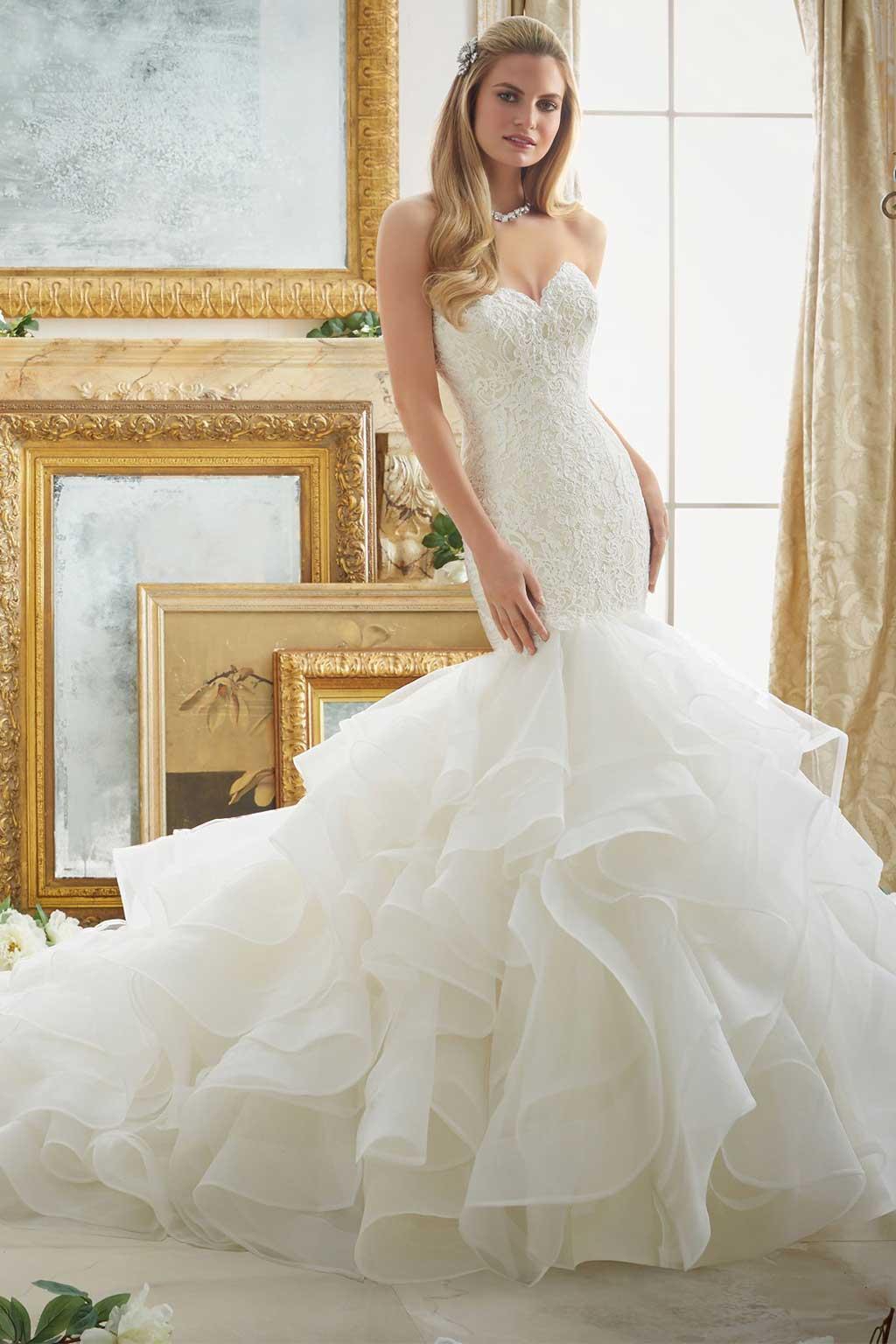Váy dáng cá cúp ngực  Top những mẫu áo cưới đẹp nhất ai cũng muốn mặc.