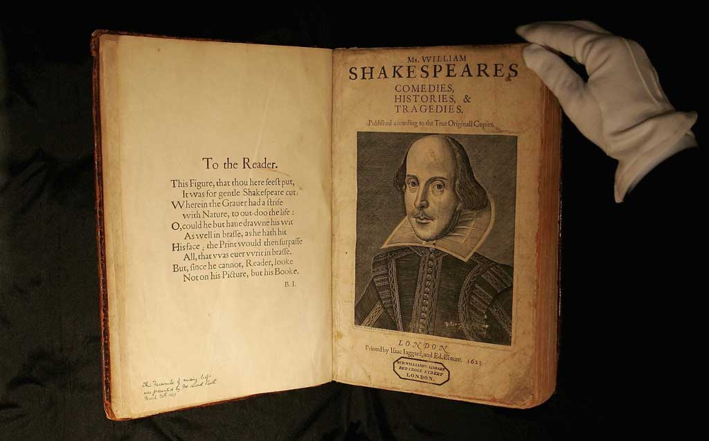 """First Folio"" của William Shakespeare"