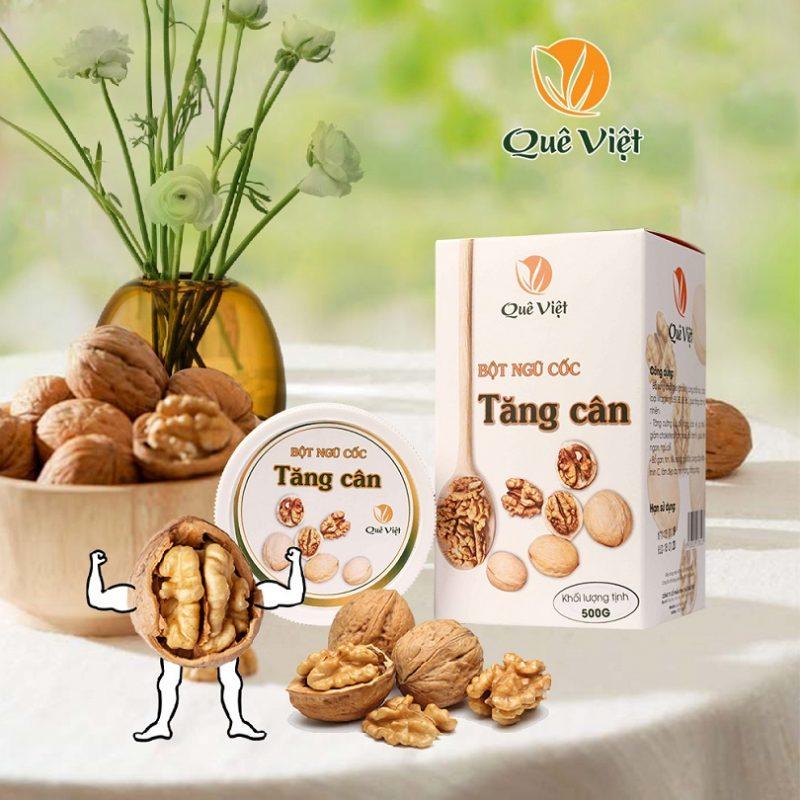 Bột ngũ cốc dinh dưỡng tăng cân Quê Việt