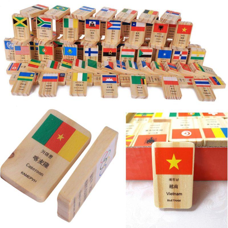 Đồ chơi domino gỗ thông minh
