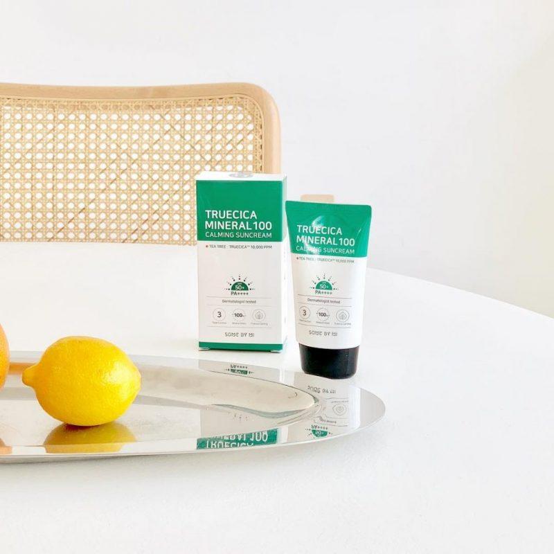 Kem chống nắng có thành phần từ tinh chất rau má an toàn cho da