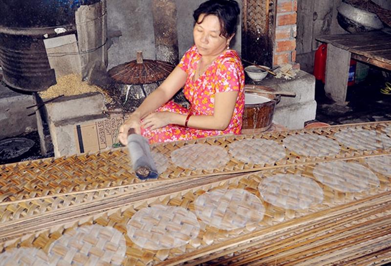 Bánh phồng Kiên Giang nổi tiếng vùng đồng bằng sông Cửu Long