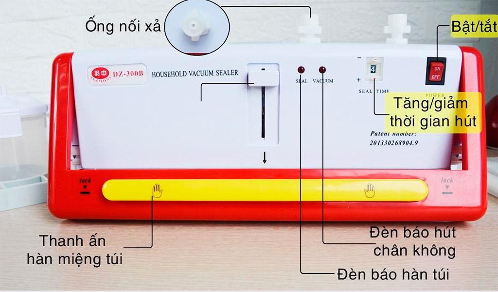 Cấu tạo của chiếc máy DZ 300B