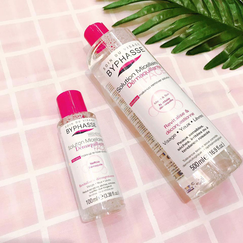 Nước tẩy trang Byphasse sử dụng công nghệ Micellar Water để hỗ trợ tối ưu trong việc làm sạch da