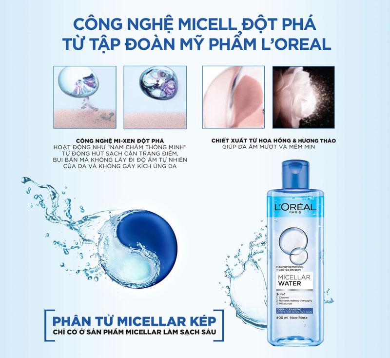 Sản phẩm nổi bật với công nghệ được cải tiến tối ưu Micellar Water