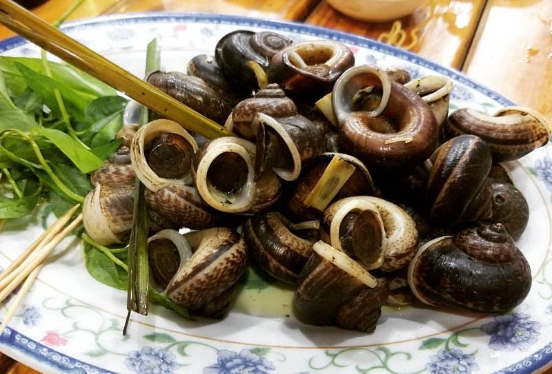 Ốc Núi Ninh Bình món ăn độc quyền không nơi nào ở Đà Nẵng có.