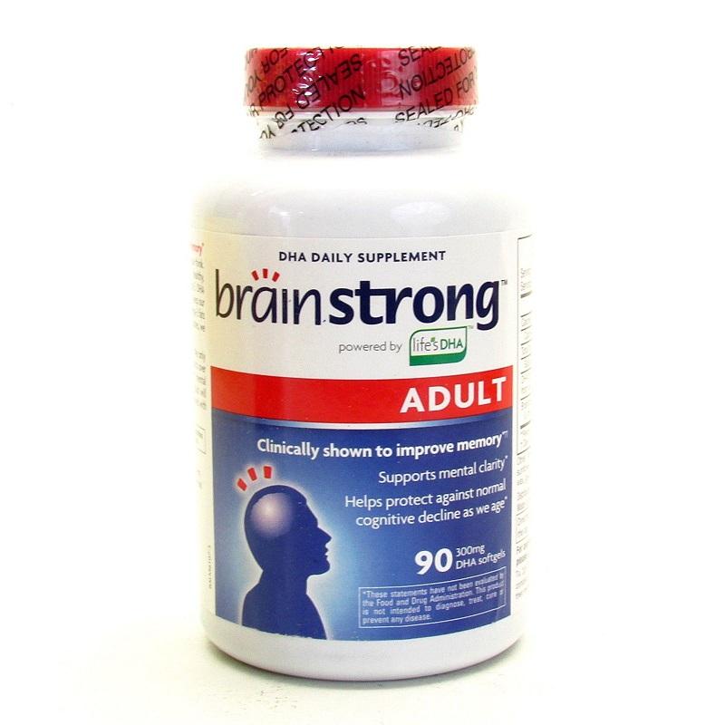BrainStrong Adult DHA 300 mg_ thực phẩm chức năng giúp tăng cường trí nhớ cho người cao tuổi.