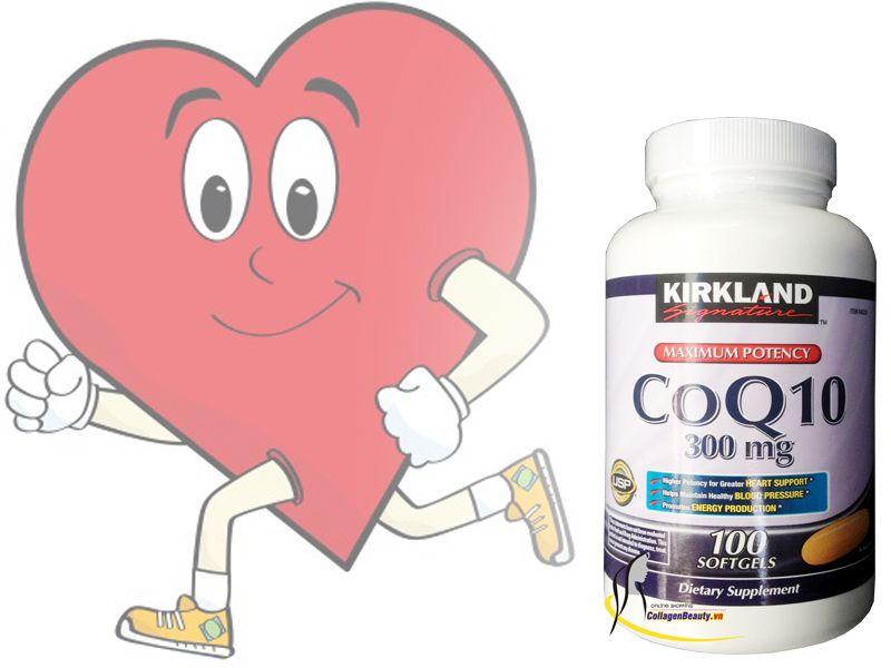 Kirkland CoQ10 300 mg giúp duy trì sức khỏe tim mạch.