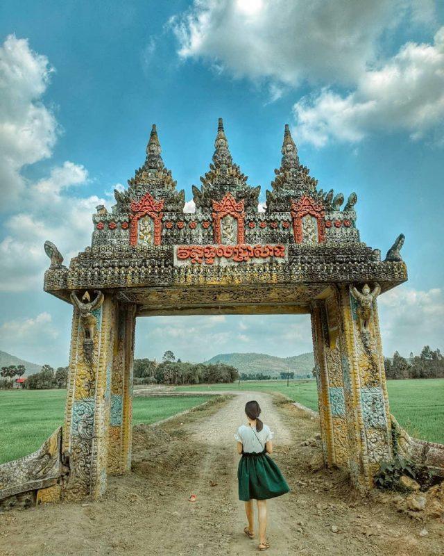 Tri tôn với nét kiến trúc mang đậm nét Campuchia