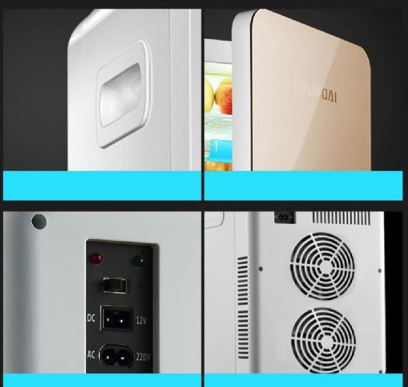 Tủ lạnh mini Huyndai có thiết kế sang trọng, bắt mắt.