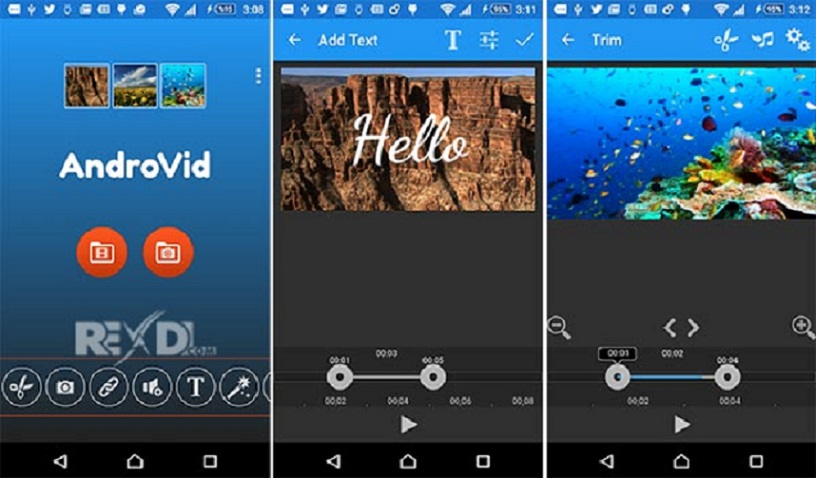 Ứng dụng làm clip miễn phí trên Android - AndroVid - Video Editor