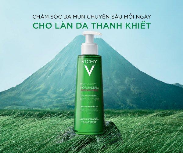 Sữa rửa mặt Normaderm Phytosoulution dạng GEL của thương hiệu Vichy hiệu quả cho làn da nhờn bóng