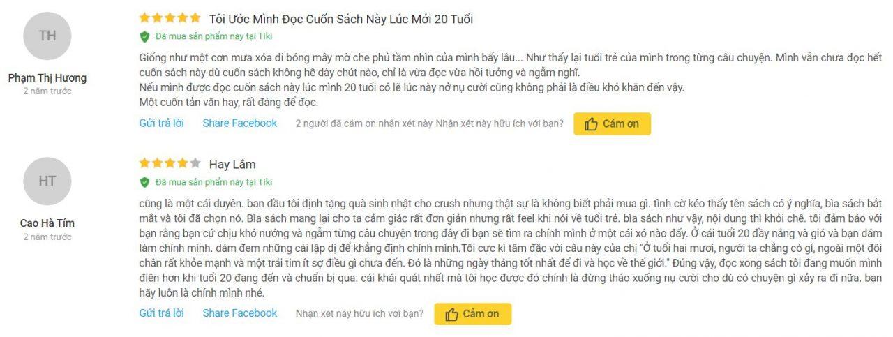 Review của bạn Phạm Thị Hương và Cao Hà Tím