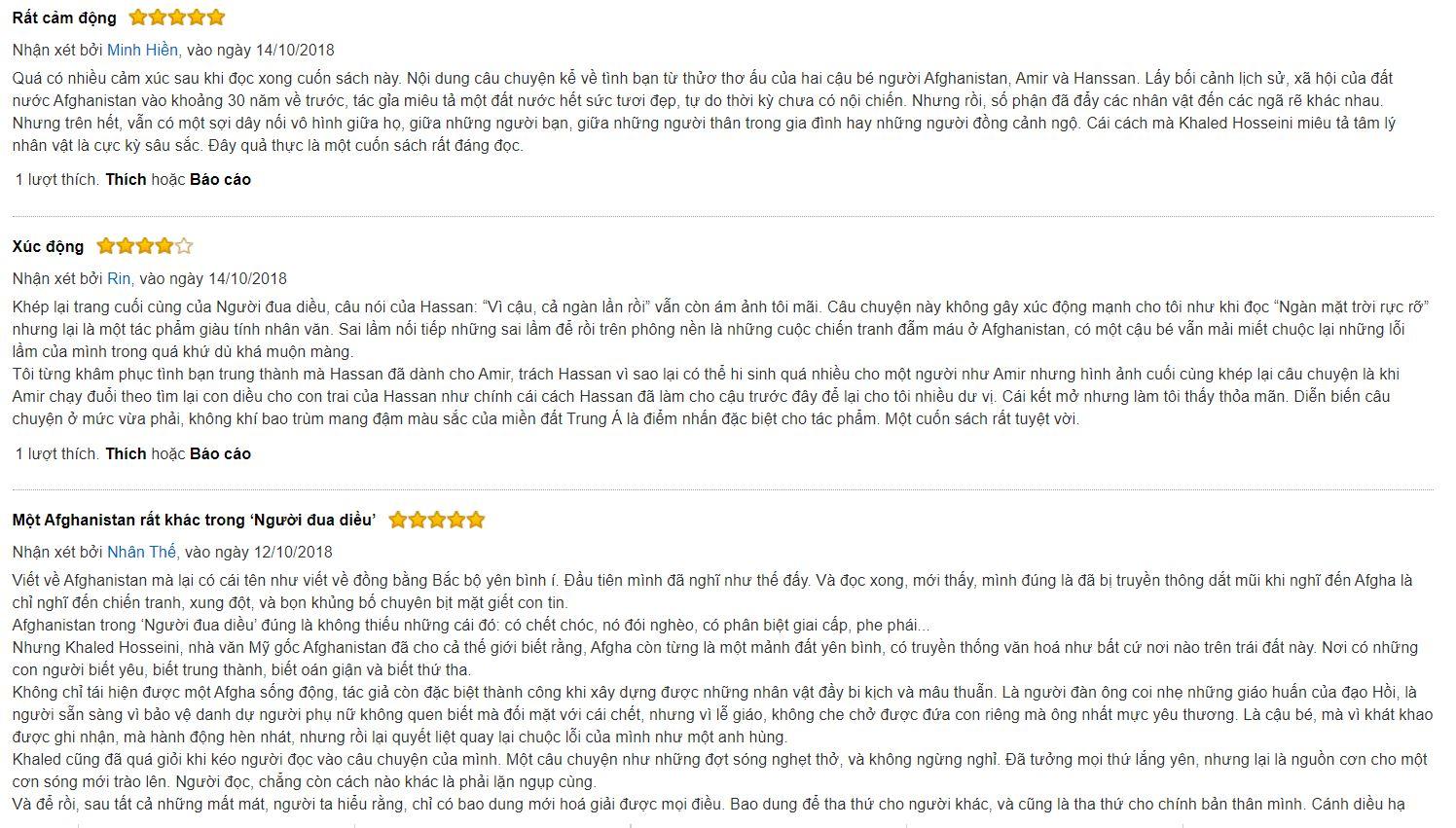 review sách Người đua diều