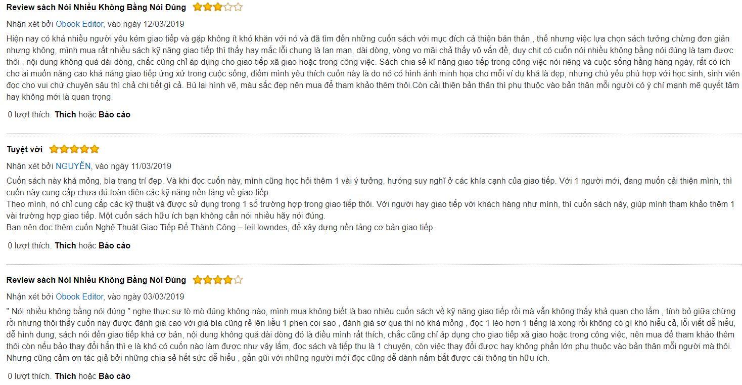 review sách Nói nhiều không bằng nói đúng