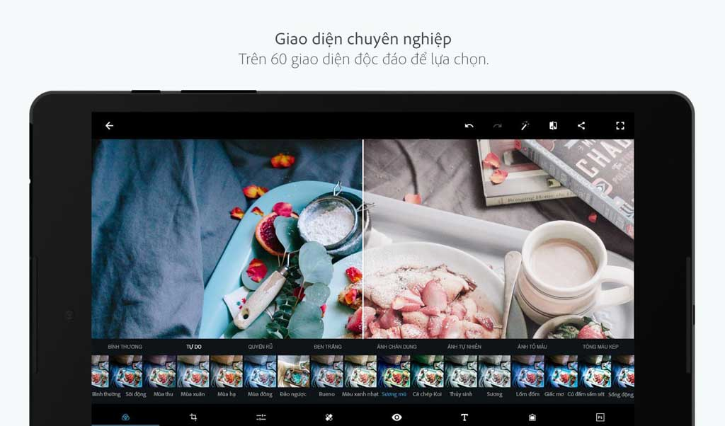 Phần mềm chỉnh ảnh Adobe Photoshop Express