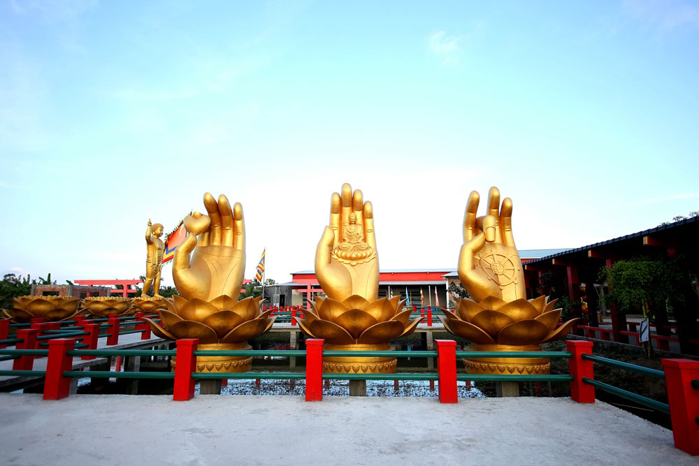 Chùa Phật Học 2 tại miền Tây với thiết kế độc đáo, mới lạ
