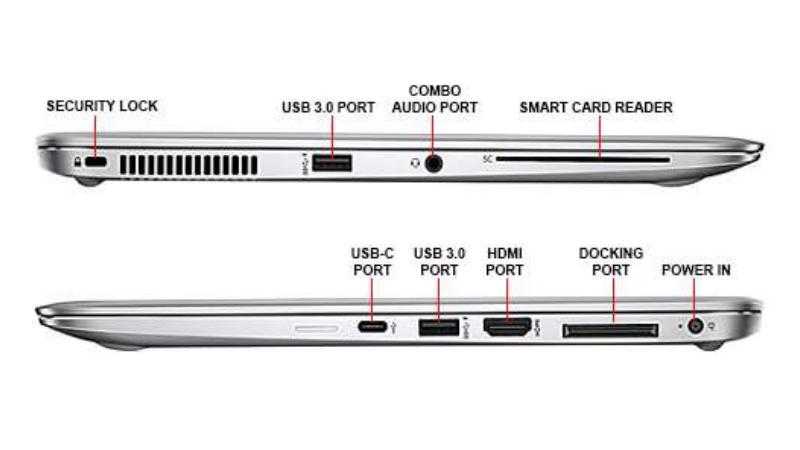 Cổng kết nối của Hp 1040 G3 khá tối giản