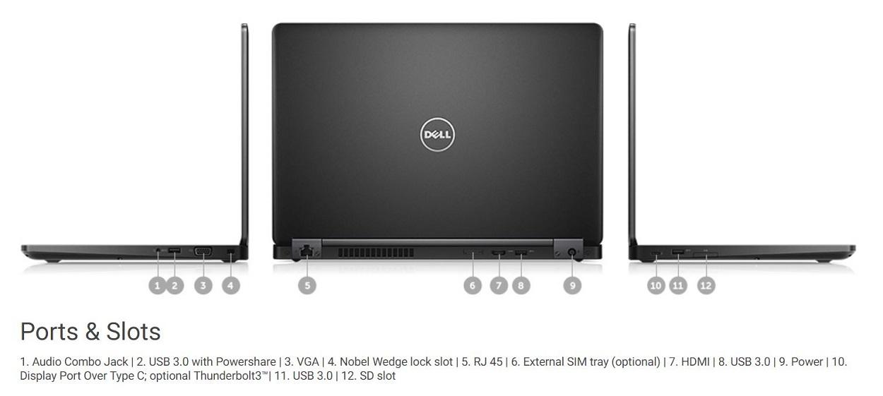 Dell 3520 được trang bị khá đầy đủ các cổng kết nối